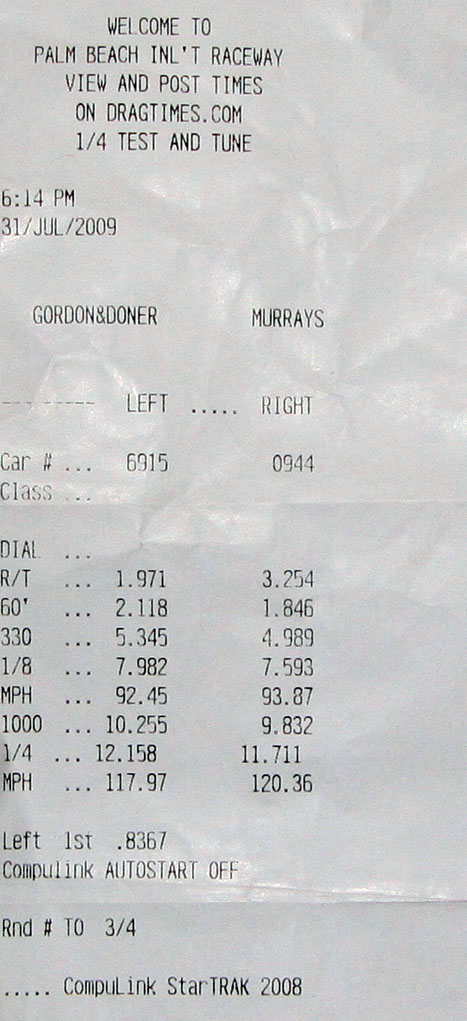 Stock 2010 Nissan GT-R 1/4 mile trap speeds 0-60