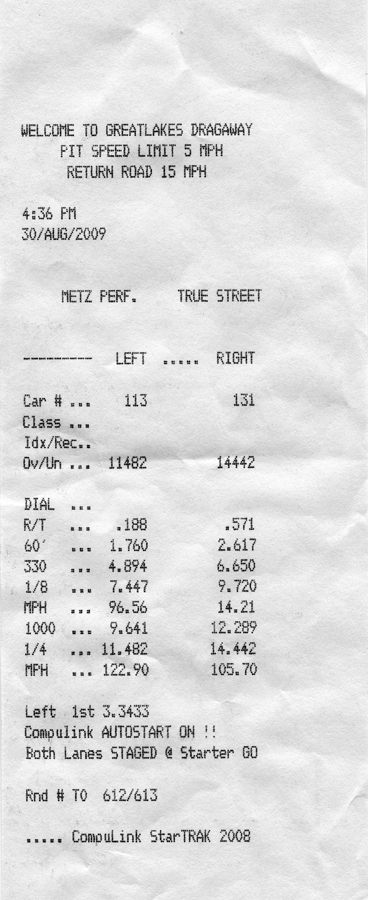 2007 Ford Mustang Shelby-GT500 1/4 mile trap speeds 0-60