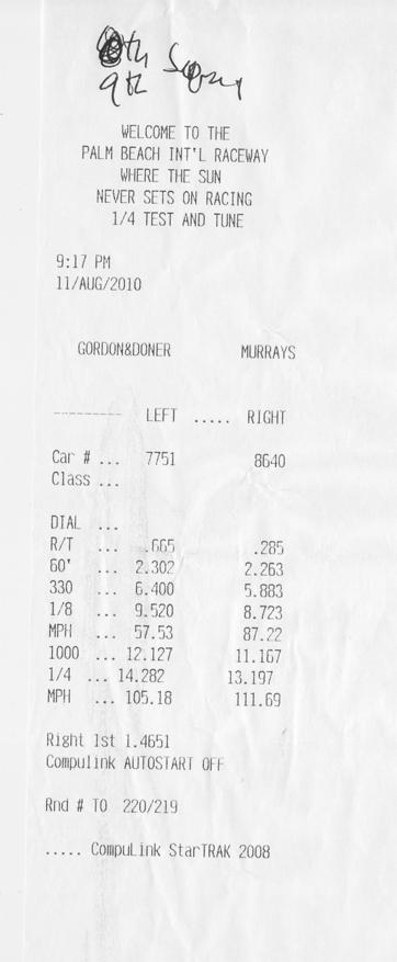 2008 Honda Civic Si Coupe 1/4 mile Drag Racing timeslip