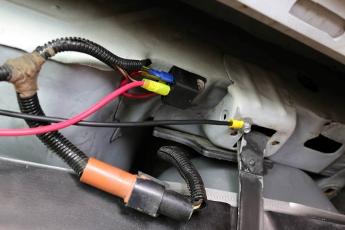 small resolution of left prior to hanging the tank back in the car a bit of wiring is
