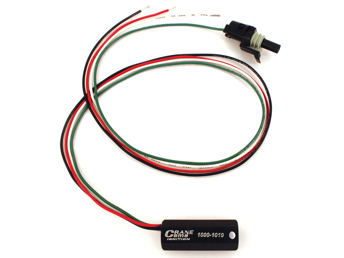 hight resolution of crane cams just released its new tel tac tach adapter that is used to correct an irregular readout all leads are color coded for a simple installation