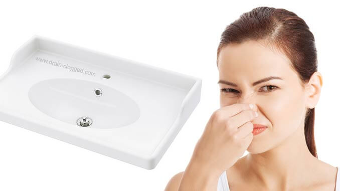 how to remove odor from bathroom sink