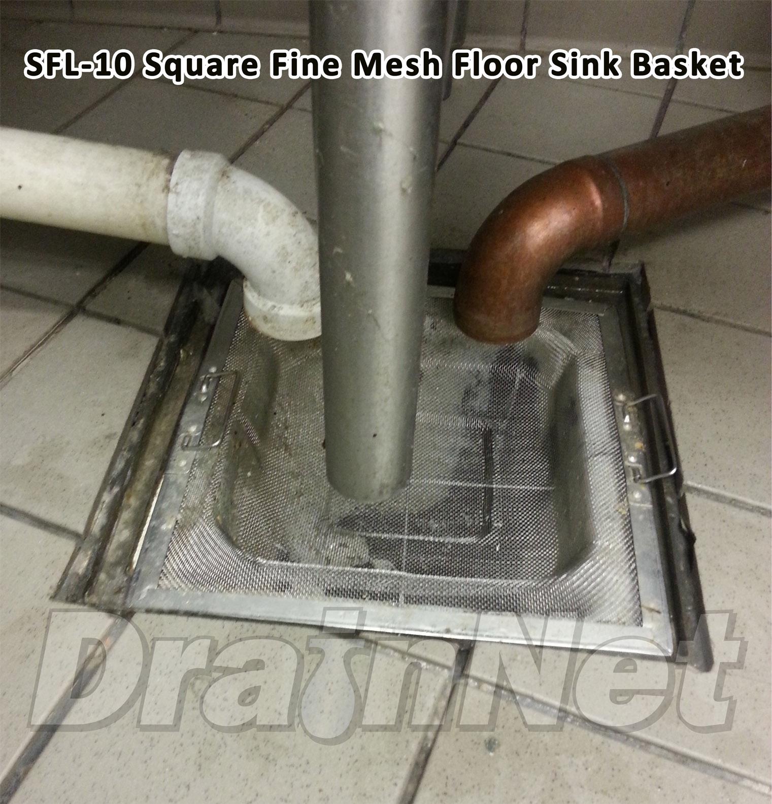 commercial floor drain installation