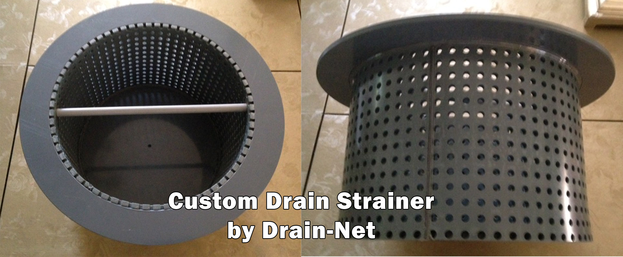 Custom Drain Strainers for commercial facilities in