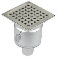 Shower Drain Vertical Gully Stainless Steel 145 x 145mm