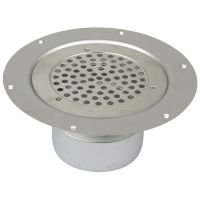 Shower Drain Vertical Circle Gully Stainless Steel 155mm