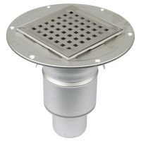 Shower Drain Adjustable Vertical Gully Stainless Steel