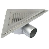 Shower Drain Gully Stainless Steel Triangular Corner ...