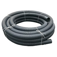 Perforated Land Drain Coil Pipe 80mm x 50m | Drainage ...