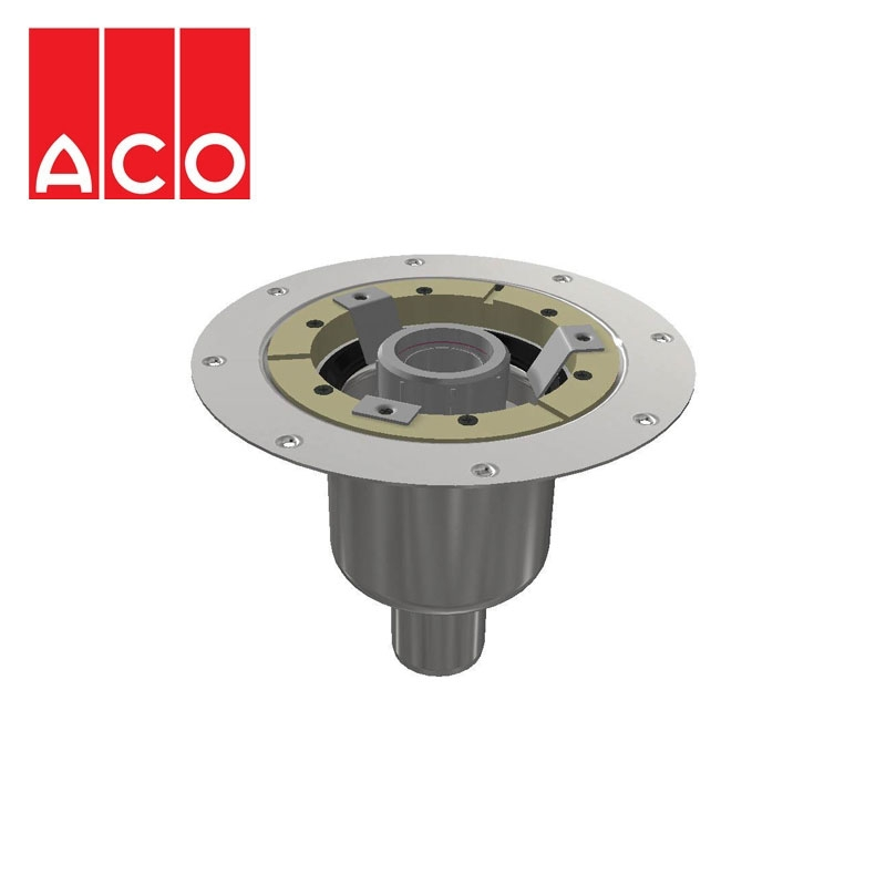 ACO Trapped Shower Gully Vertical Outlet for Tiled