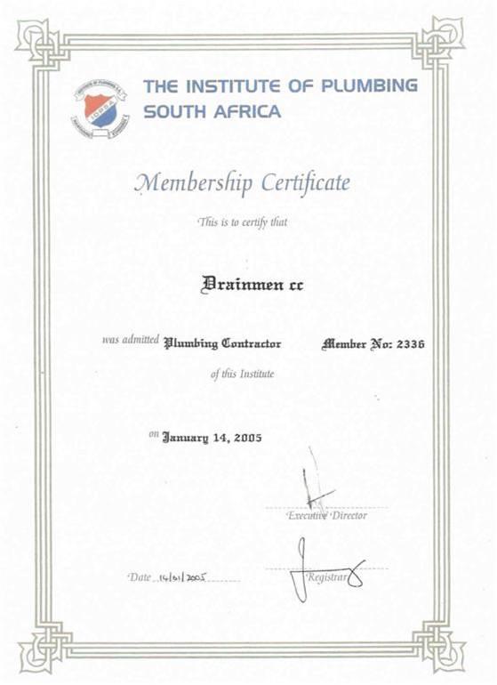 Certificates  DRAINMEN