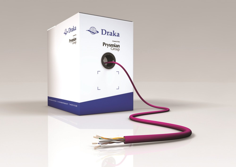 medium resolution of draka innovation delivers high performance cat 6 data cable with slim profile