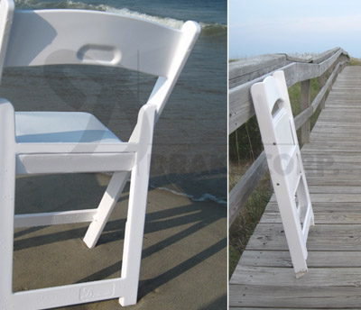 resin folding chairs for sale little tikes adjustable table and :: drake chip stacking (aka white wedding chairs)