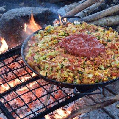 Zweden kanotocht outdoor cooking, eten en drinken