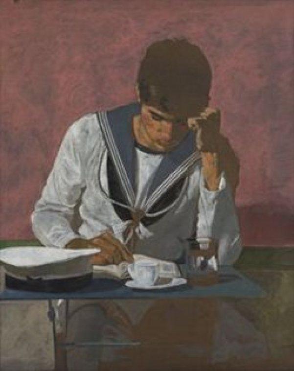 Ένα από τα πιο γνωστά μοτίβα του Γιάννη Τσαρούχη στους πίνακές του.
