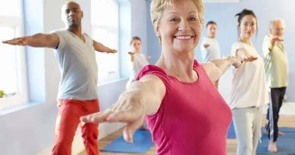 blog picture of elderly woman in tai chi class