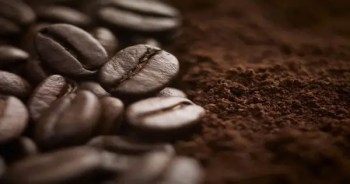 blog picture of coffee beans and grounds
