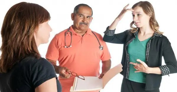 blog picture of doctor talking with patients
