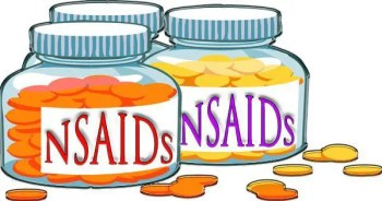 blog illustration of pill bottles with nsaids written on them
