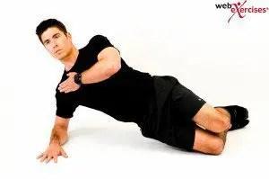 blog de imágenes del hombre haciendo ejercicio llamado puente lateral