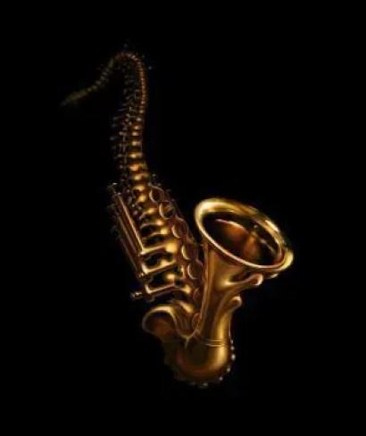 blog de imágenes de saxofón que se transforma en una columna