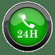 ഒരു ഫോൺ റിസീവർ ഐക്കണിനൊപ്പം 24h ചുവടെയുള്ള ഒരു പച്ച ബട്ടണിന്റെ ബ്ലോഗ് ചിത്രം
