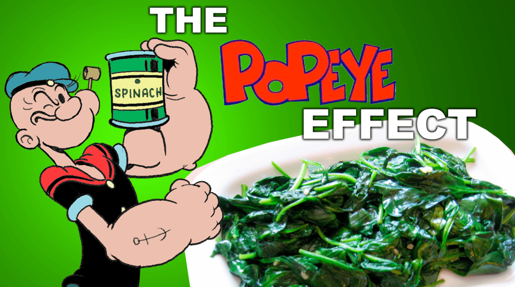 blog picture of spinach and popeye