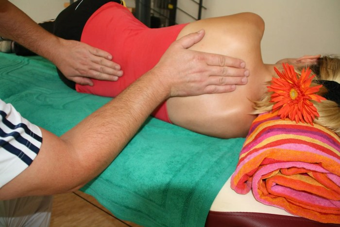 blog picture of lady getting a massage
