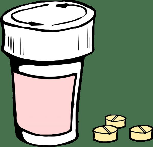 blog illustration of pill bottle and pills