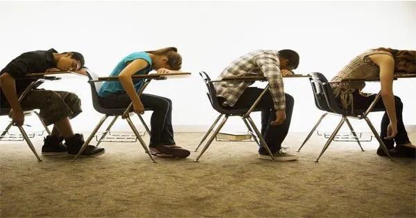 blog picture of teenagers sleeping at school