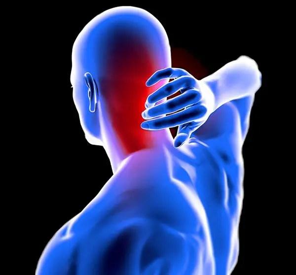 hombre anatomía dolor de cuello