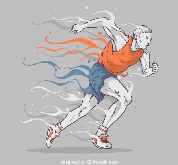 Ilustración del hombre corriendo