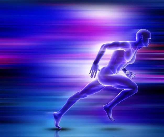 d figura masculina corriendo