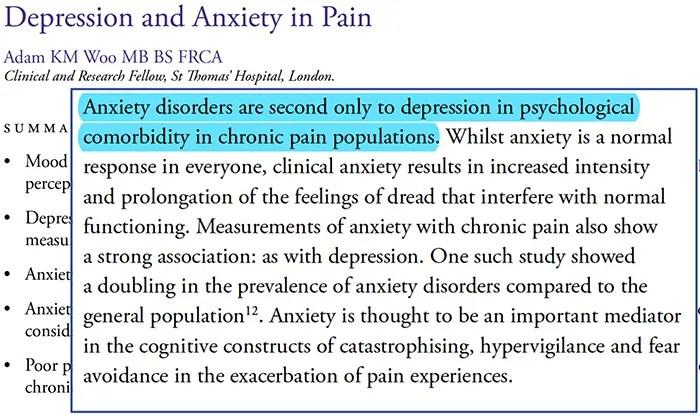 pain anxiety depression el paso tx.