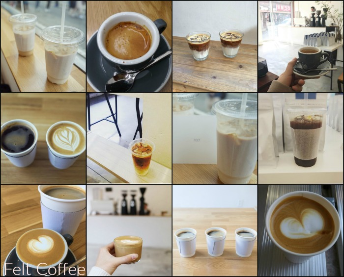 Felt Korean Roasted coffee shop Hongdae