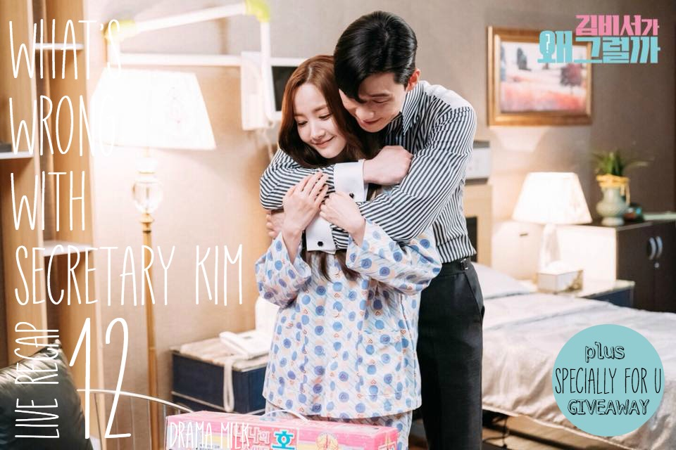 Park Seo-joon happily hugs Park Min-young in a hospital room