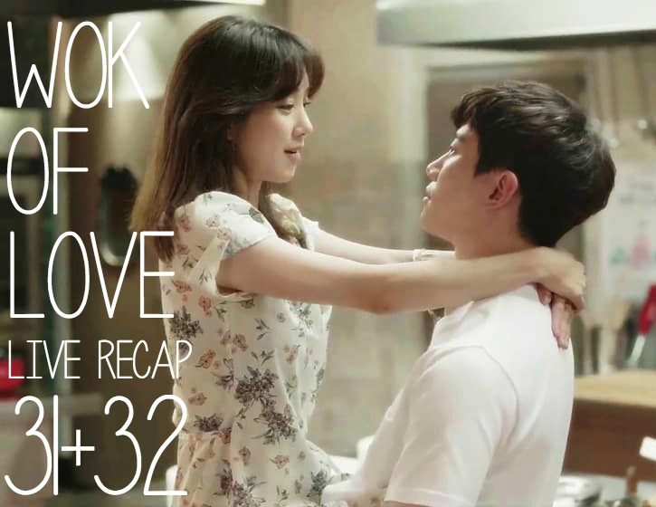 Lee Joon-ho and Jung Ryeo-won looking at each other intimately in the Kitchen in Wok of Love