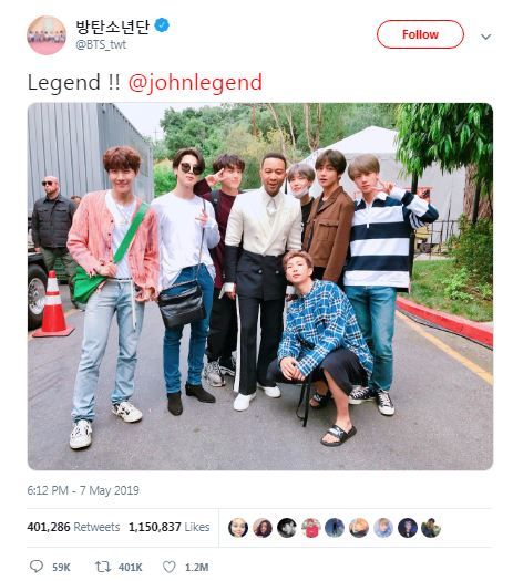 john legend and bts