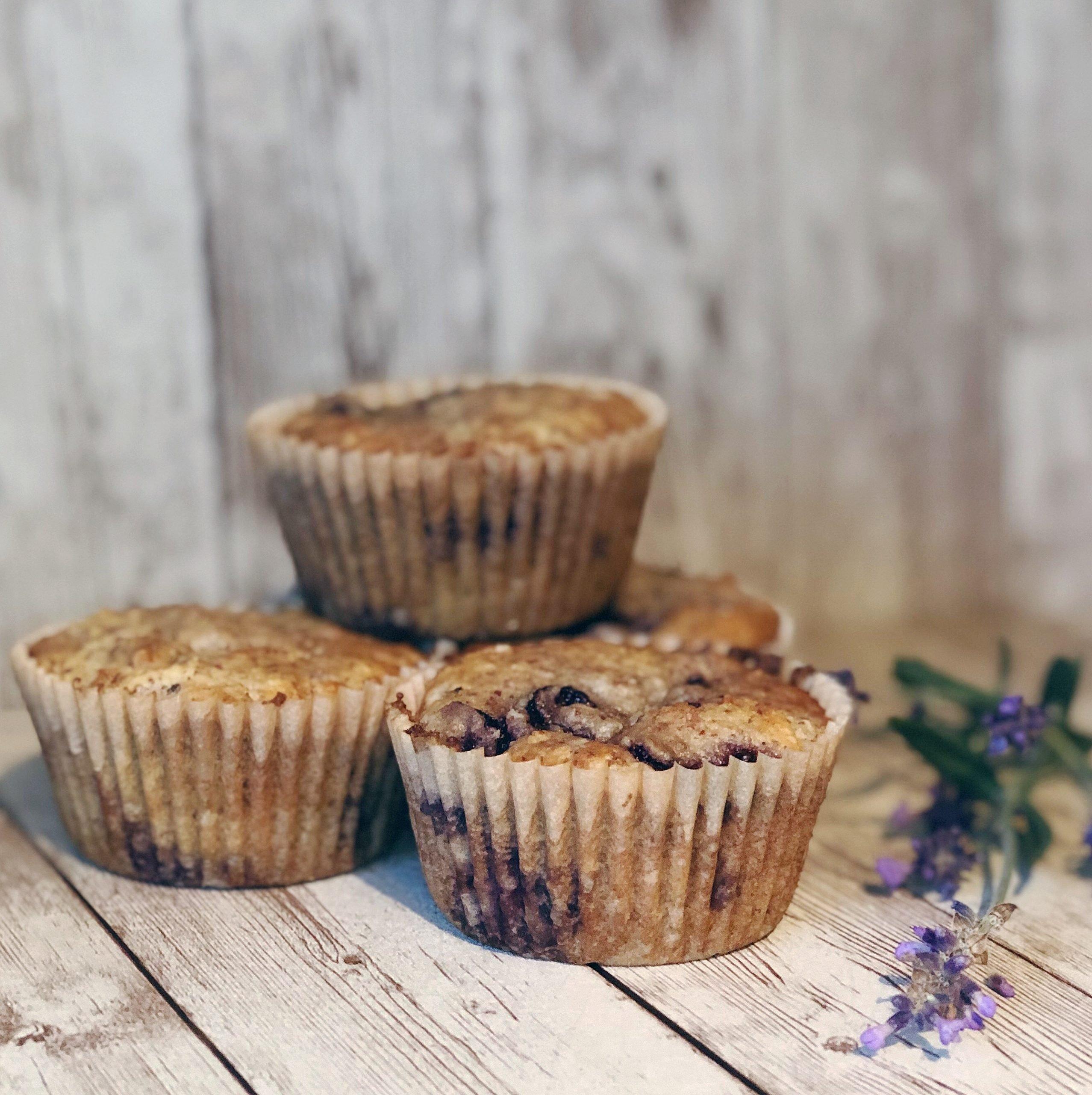 Cherry Lavender Muffins