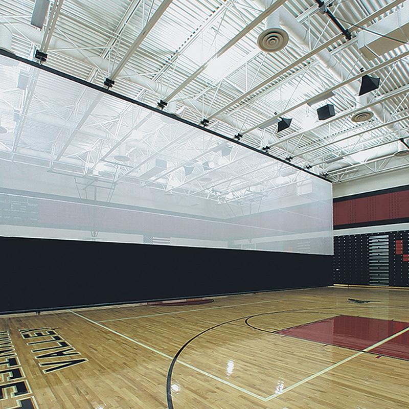 Top Roll Gym Divider Curtains Draper Inc