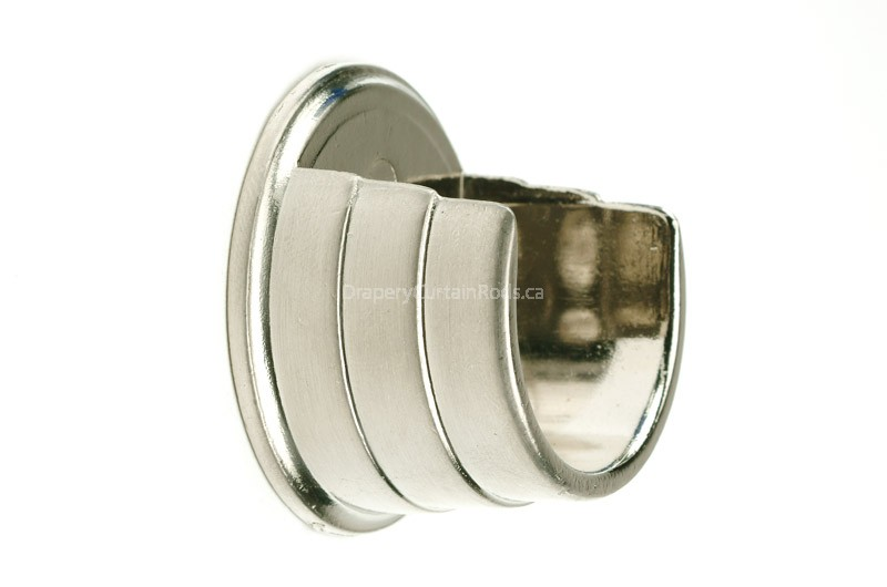 nickle brushed curtain rod wall mount