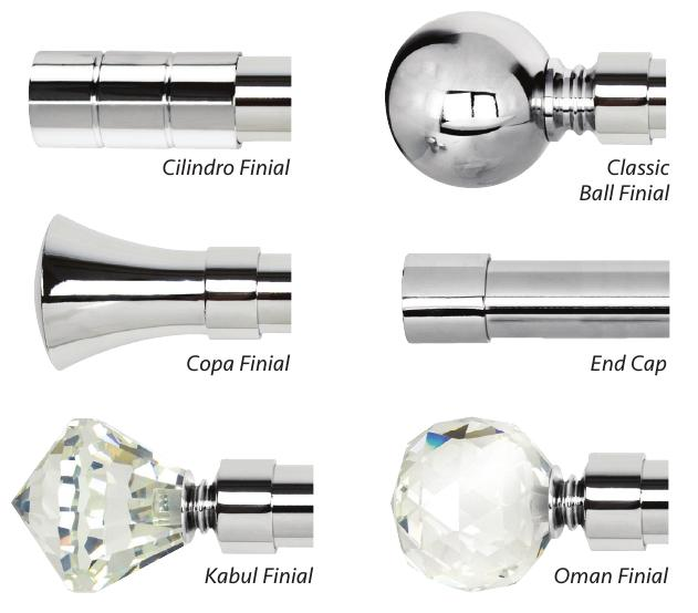 Polished Chrome Finials