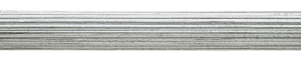 Reeded Pole Silver
