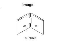 "Graber Corner curtain rod hinge 4 1/2"" for Dauphine rod"