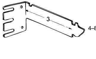 "3"" Extention bracket for curtain rods"