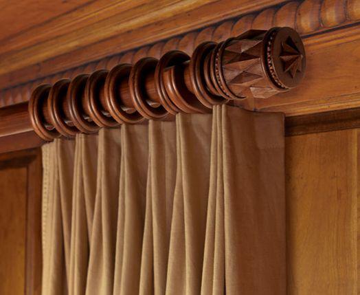 wooden drapery rods kirsch buckingham
