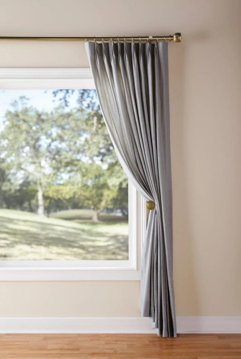 bay window curtain rods drapery rods