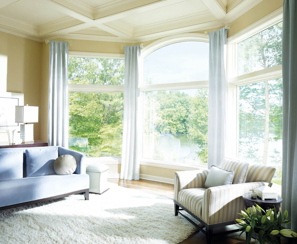 window treatment ideas for bay windows in living room top green paint colors