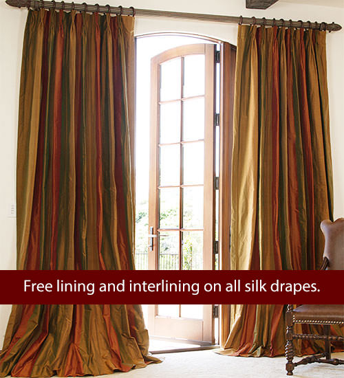 Striped Silk Drapes Drapestyle Com