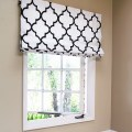 Black and white roman shades for windows